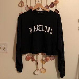 Brandy Melville John Galt Cropped Sweatshirt